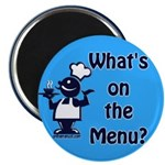 "What's on the Menu? 25"" Magnet (100 pack)"