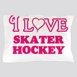 I Love Skater Hockey Pillow Case