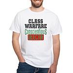 No Class Warfare White Tee