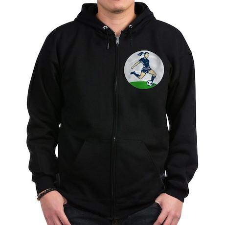 woman soccer player Zip Hoodie (dark)