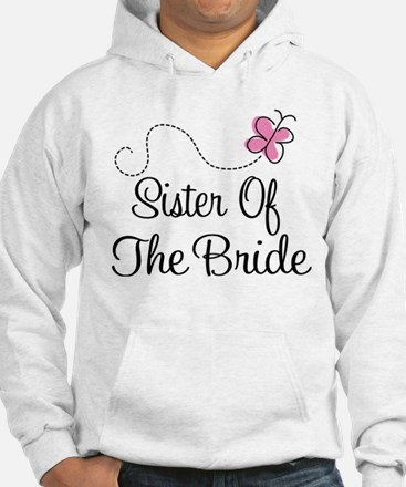 Sister of the Bride Pink Butterfly Jumper Hoody
