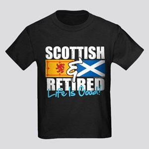 Scottish & Retired Kids Dark T-Shirt