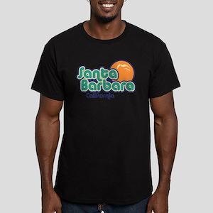 Santa Barbara California Men's Fitted T-Shirt (dar