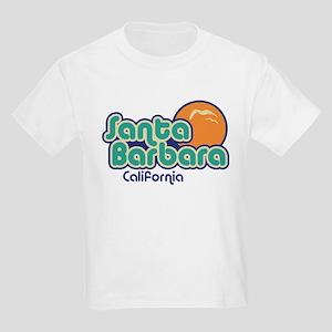 Santa Barbara California Kids Light T-Shirt