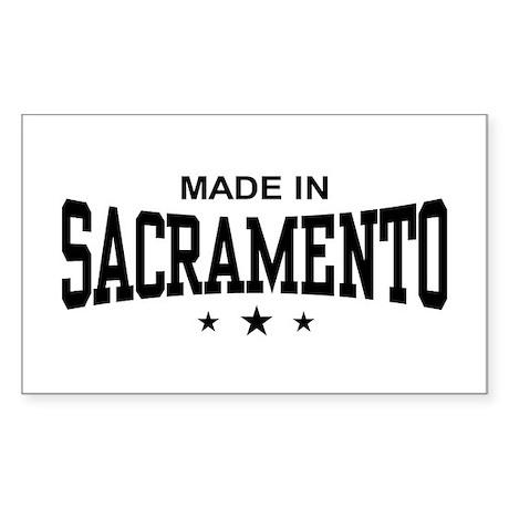 Made In Sacramento Sticker (Rectangle)