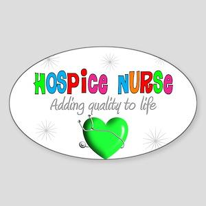 HOSPICE Sticker (Oval 10 pk)