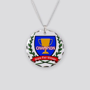 State Fair Winner Necklace Circle Charm