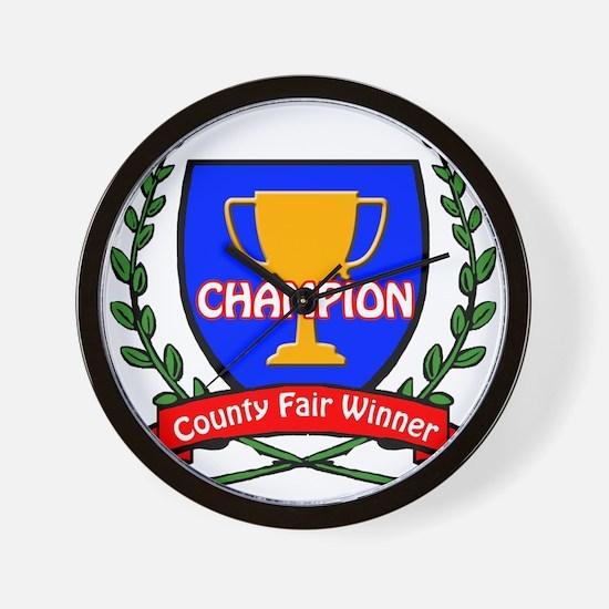 County Fair Winner Wall Clock