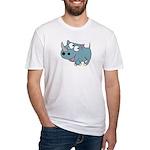 Cute Rhino Fitted T-Shirt