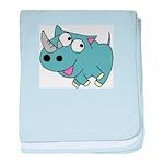 Cute Rhino baby blanket