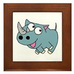 Cute Rhino Framed Tile