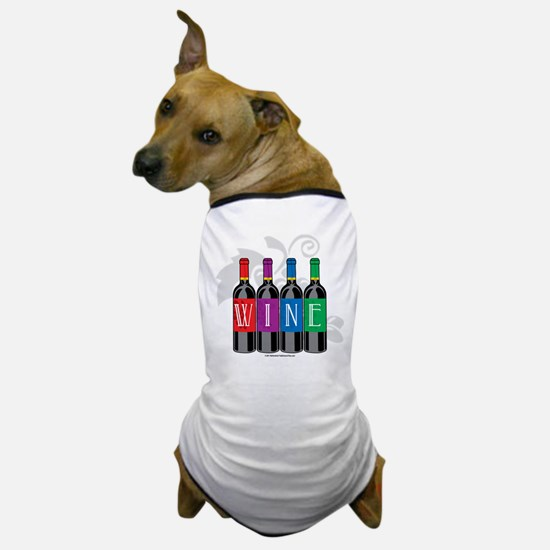 Wine Bottles Dog T-Shirt