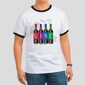 Wine Bottles Ringer T