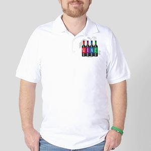 Wine Bottles Golf Shirt