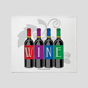 Wine Bottles Throw Blanket