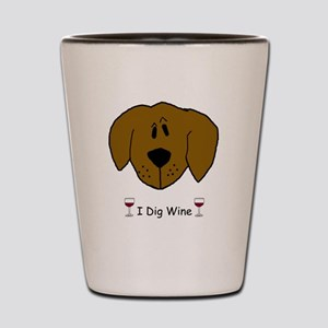 I Dig Wine Shot Glass