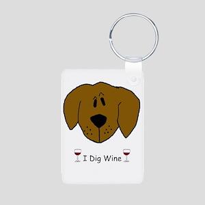I Dig Wine Aluminum Photo Keychain