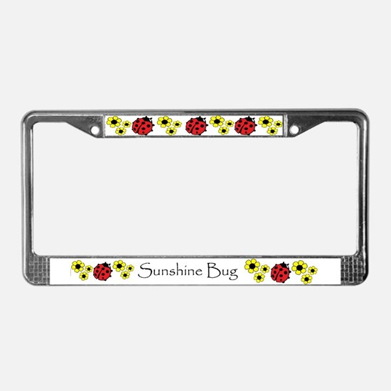 Sunshine Bug License Plate Frame PERSONALIZED!
