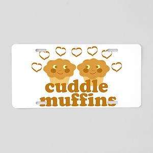 Cuddle Muffins in Love Aluminum License Plate