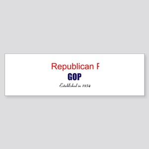 Republican Party GOP Sticker (Bumper)