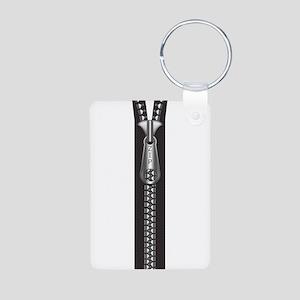 Zipper Aluminum Photo Keychain
