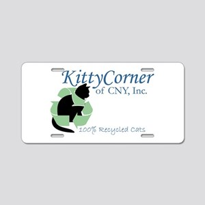 Kitty Corner Aluminum License Plate