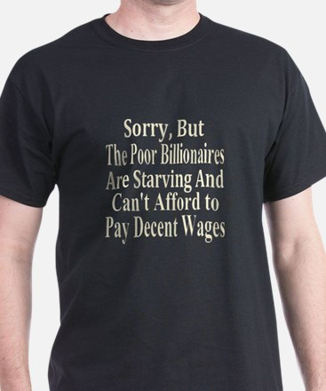 Billionaires Can't Afford Wag T-Shirt