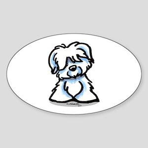 Coton Cartoon Sticker (Oval)