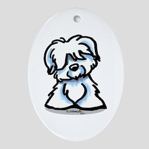 Coton Cartoon Ornament (Oval)