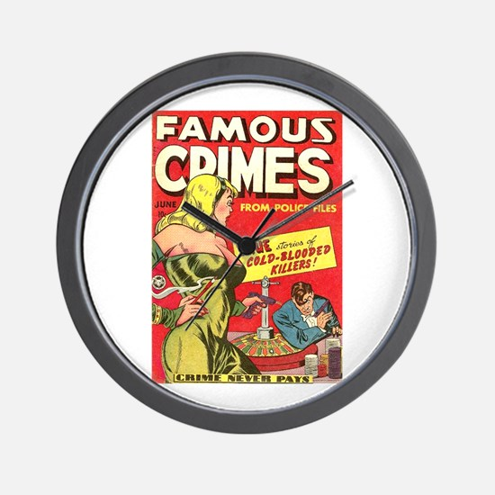 Famous Crimes Wall Clock