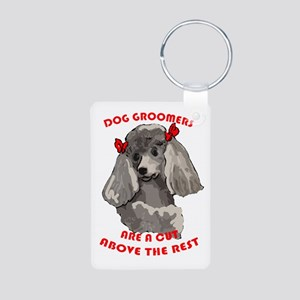 Dog Groomiing Aluminum Photo Keychain