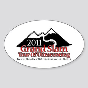 Grand Slam of Ultrarunning Sticker (Oval)
