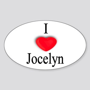 Jocelyn Oval Sticker