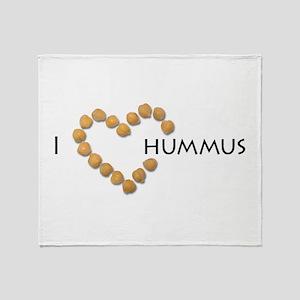 I heart hummus Throw Blanket
