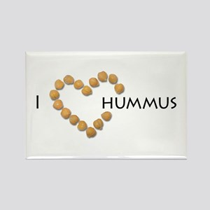I heart hummus Rectangle Magnet