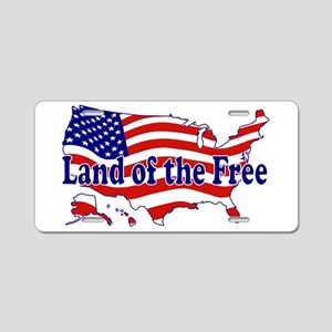 Land of the Free Aluminum License Plate