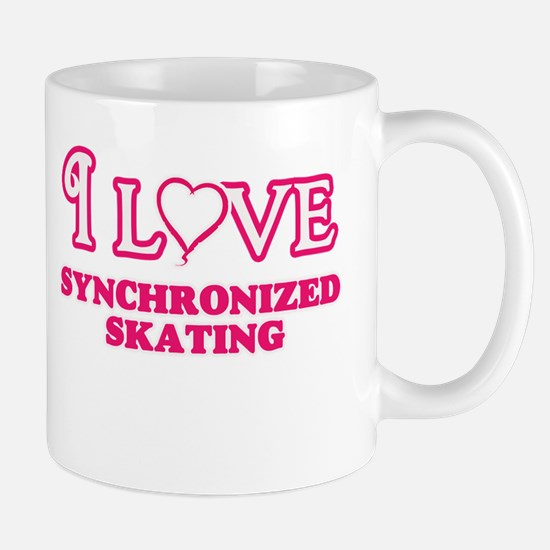 I Love Synchronized Skating Mugs
