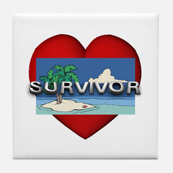 Survivor Love Tile Coaster