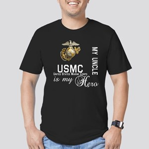 USMC My Uncle MY Hero Men's Fitted T-Shirt (dark)