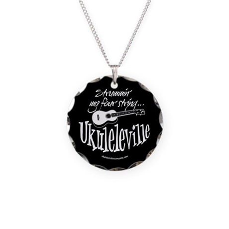 Ukuleleville Necklace Circle Charm