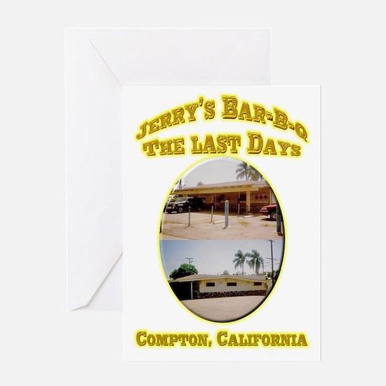 Jerry's Bar-B-Q The Last Days Greeting Card