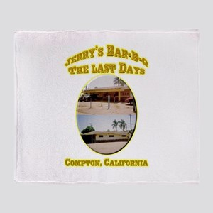 Jerry's Bar-B-Q The Last Days Throw Blanket