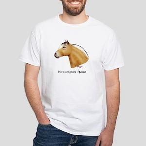 Norwegian Fjord White T-Shirt