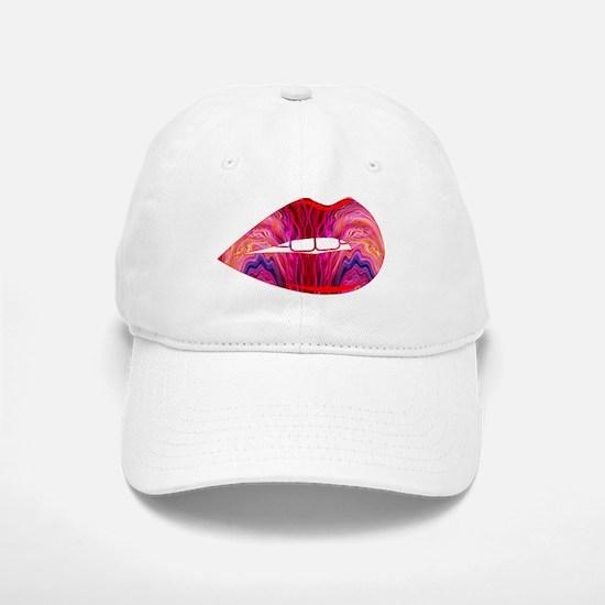 Lips Baseball Baseball Cap