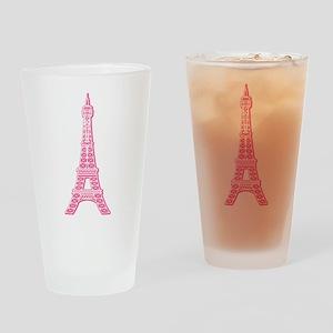 Pink Eiffel Tower Pint Glass