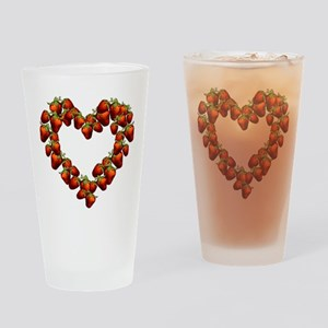 Strawberry Heart Pint Glass