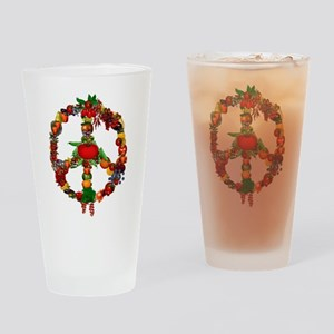Veggie Peace Sign Drinking Glass