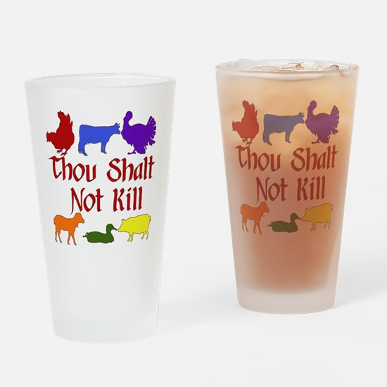 Thou Shalt Not Kill Drinking Glass