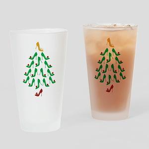 High Heel Shoe Holiday Tree Drinking Glass