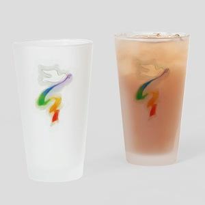 Dove with Rainbow Ribbon Pint Glass